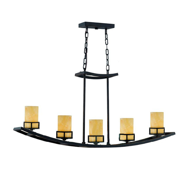 Country Iron and Marble Shade Pendant Lighting 10630-5