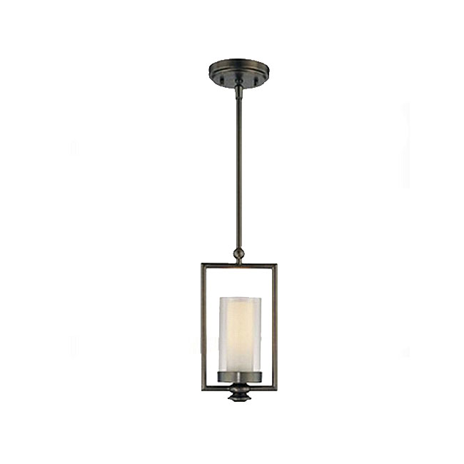 Country Glass And Iron single Shade Pendant Lighting 10732