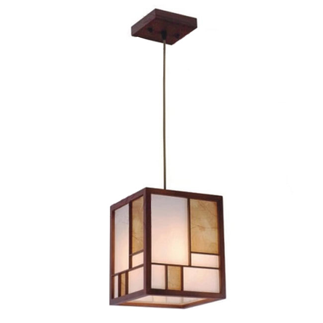 Modern Little Sheep Wood and Parchment Paper Pendant Lighting 10