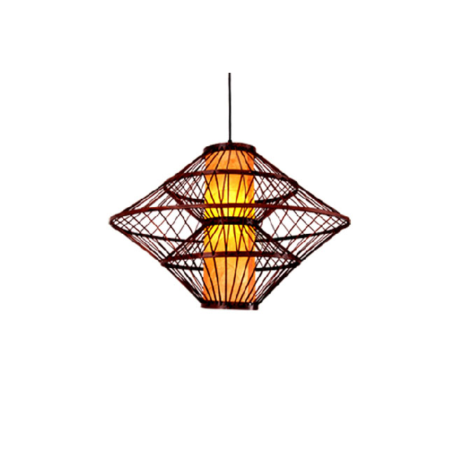 Modern Bamboo and Parchment Shade Pendant Lighting 10825