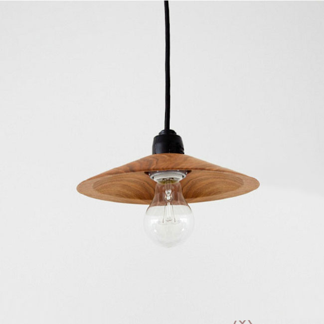 Modern Wood Shade Pendant Lighting 10830