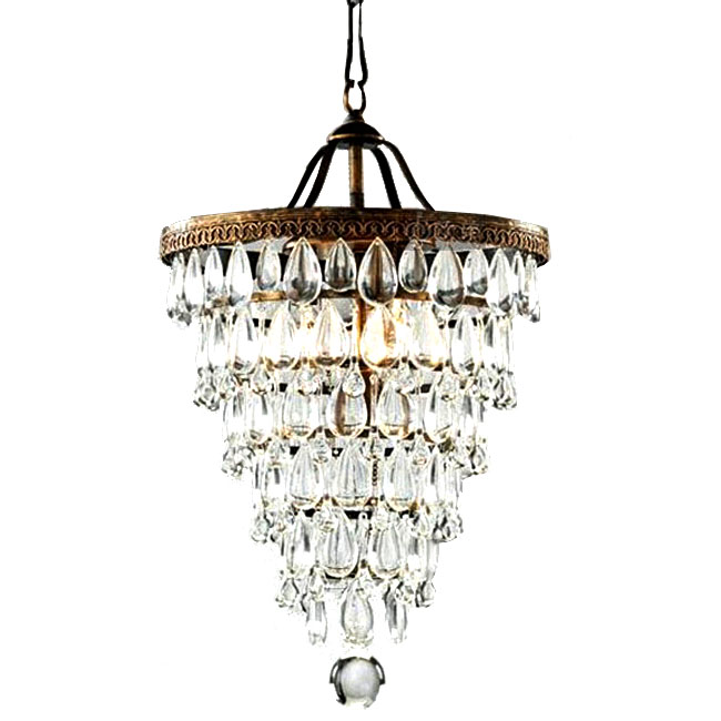 Country Crystal Pendant lighting in Baking Finish 7264