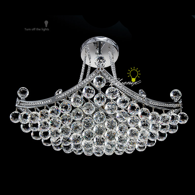 Modern Crystal Pendant Lighting in Chrome Finish 7288