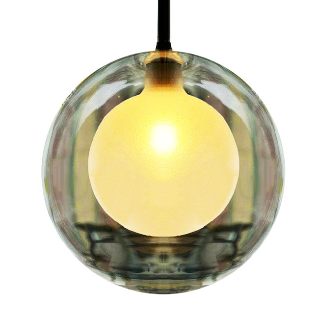 Modern 2 Layers of Glass Shade Pendant Lighting 7309