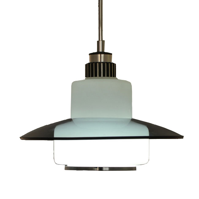 Modern Glass Art Shade Pendant Lighting in Chrome Finish 7417