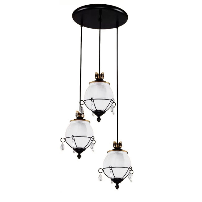 North Country Copper and White Glass Shade Pendant Lighting 7378