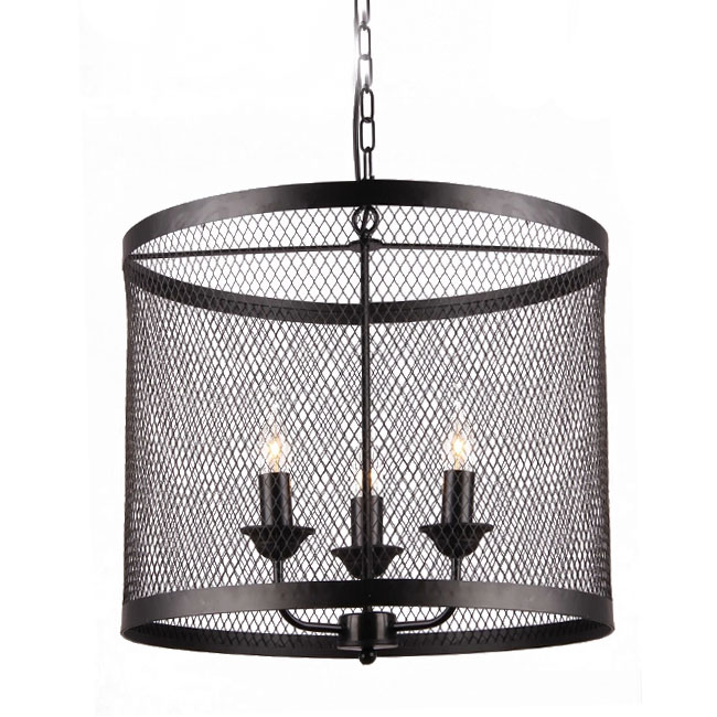 Country Iron Web Pendant Lighting in Baking Finish 10898-3