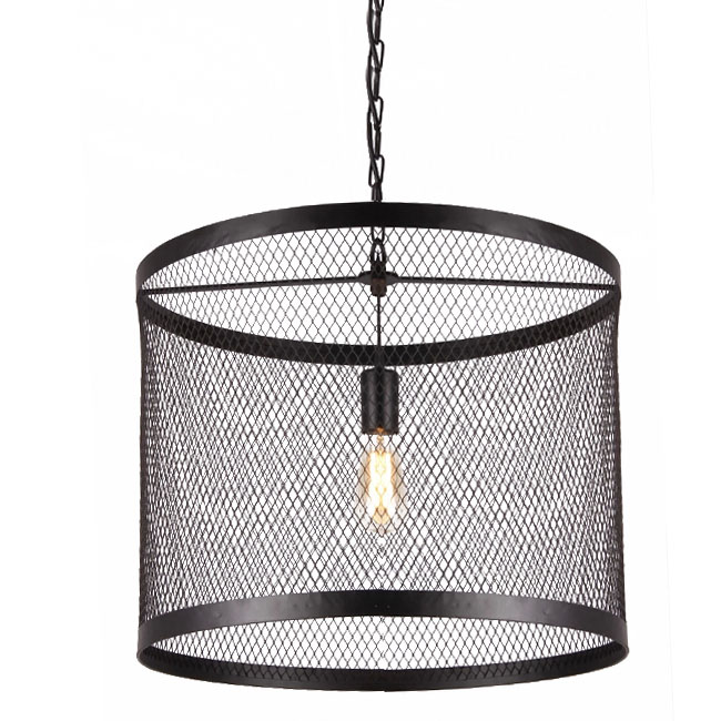 Country Iron Web Pendant Lighting in Baking Finish 10898-1