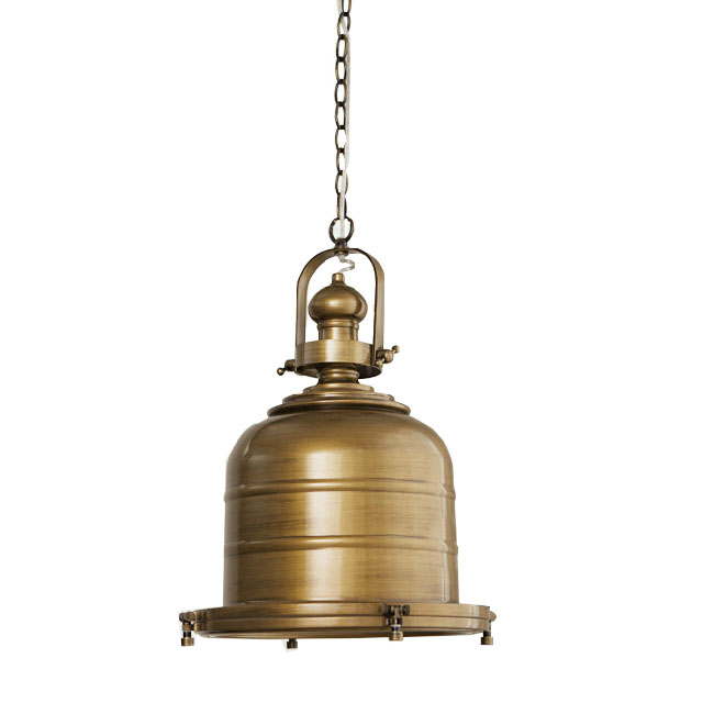 Modern FRP Shade and Metal Pendant Lighting in Copper Finish 109