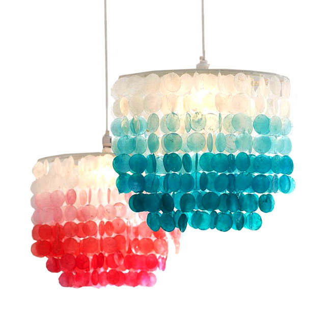 North Country Colorful Shell Pendant Lighting 10924
