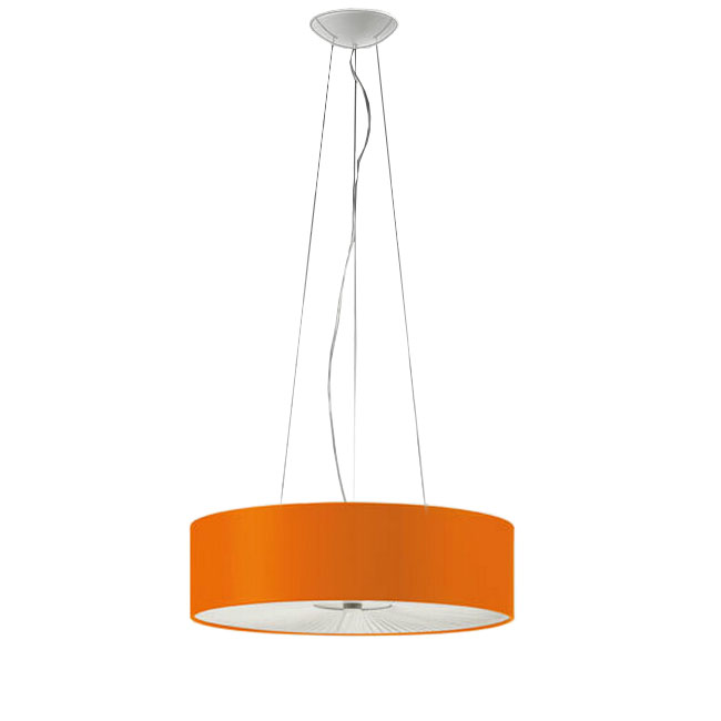 Modern Italy Metal and Fabric Shade Round Pendant Lighting 1095