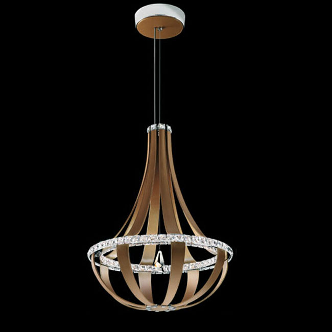 Modern Feather and Crystal LED Pendant Lighting 11054