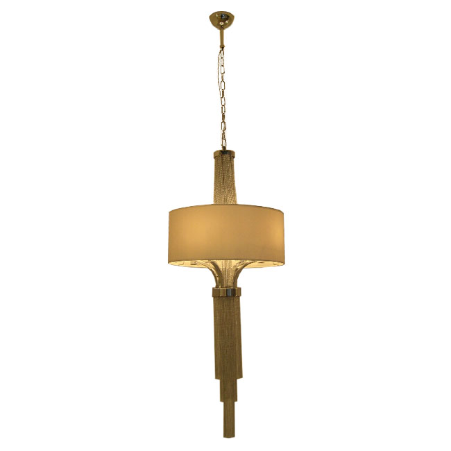 Modern Chain and Flax Shade Pedant Lighting 11055