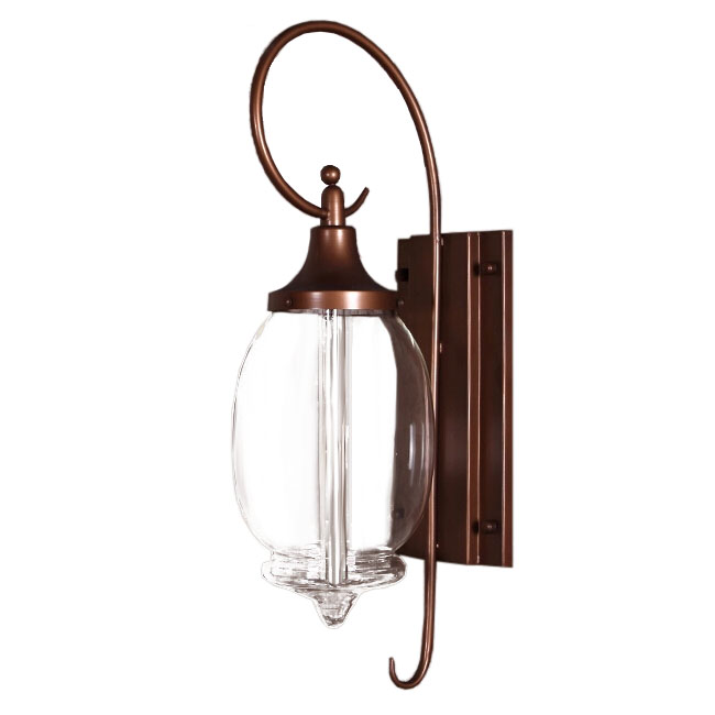 Antique Clear Blown Glass Shade Wall Sconce 11137