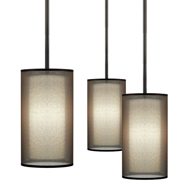 Post Modern Gauze and Fabric Shade Ceiling Lighting 11204