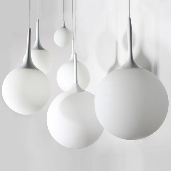 Modern Matte Glass Orb Pendant Lighting 11317