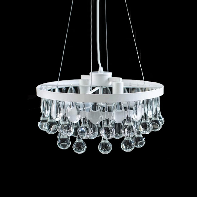 Modern North Crystal Pendant Lighting in Baking Finish 11385