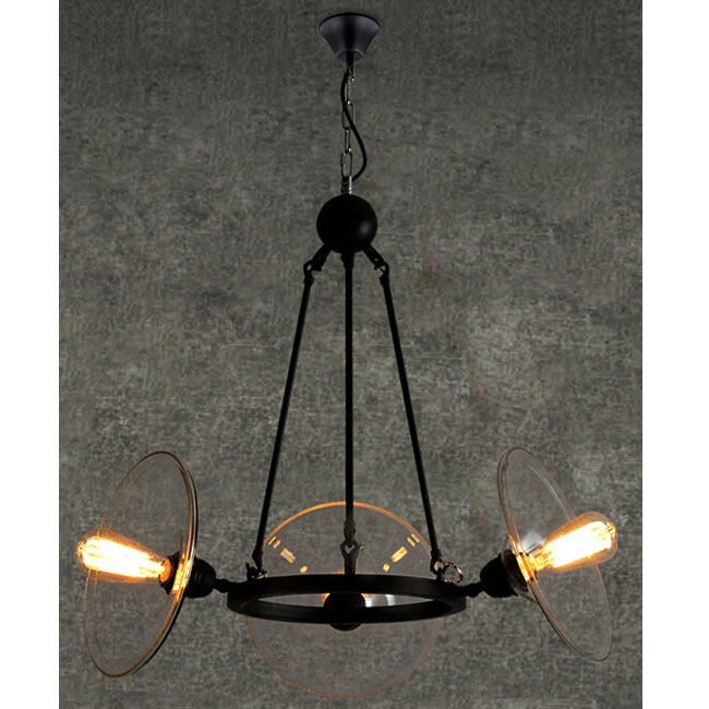 LOFT Iron and Clear Glass Shade Pendant Lighting 11529