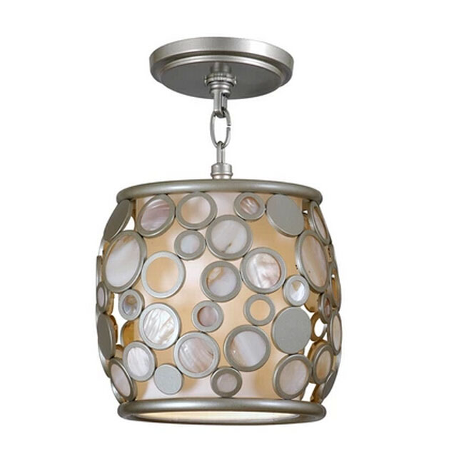 Modern Little Metal Ring and Shell Ceiling Lighting 11578