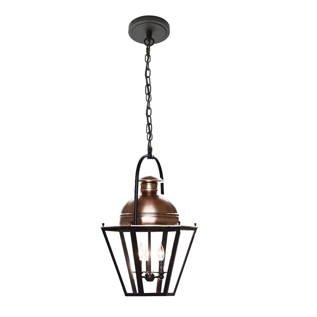 Anitque Iron and Glass Shade Pendant Lighting 11745