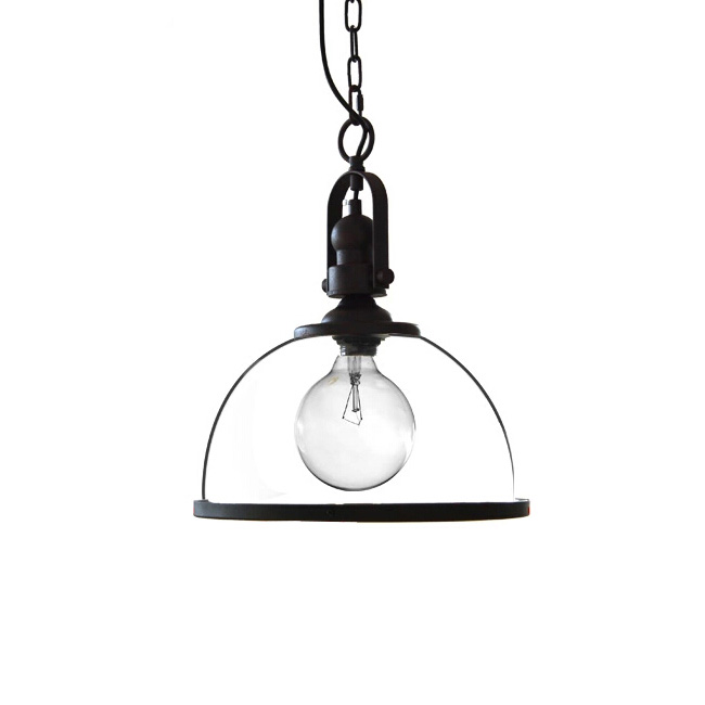 Post Modern Heavy and Clear Glass Shade Pendant Lighting 11761
