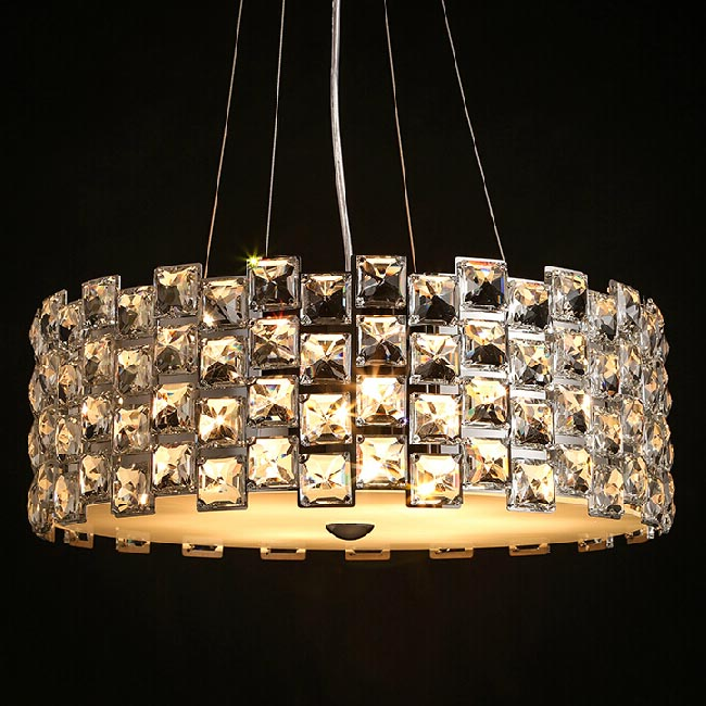 Modern Crystal Pendant Lighting in Chrome Finish 11812