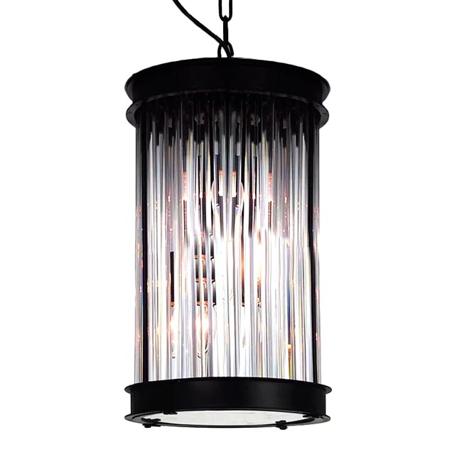 Antique Iron and Crystal Pendant Lighting 11951