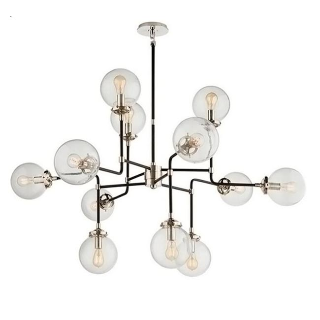 Country Iron and Clear Glass Orbs Pendant Lighting 12287