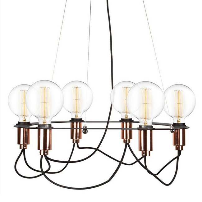 GLOBEN Cables Svart Taklampa Pendant Lighting 12625