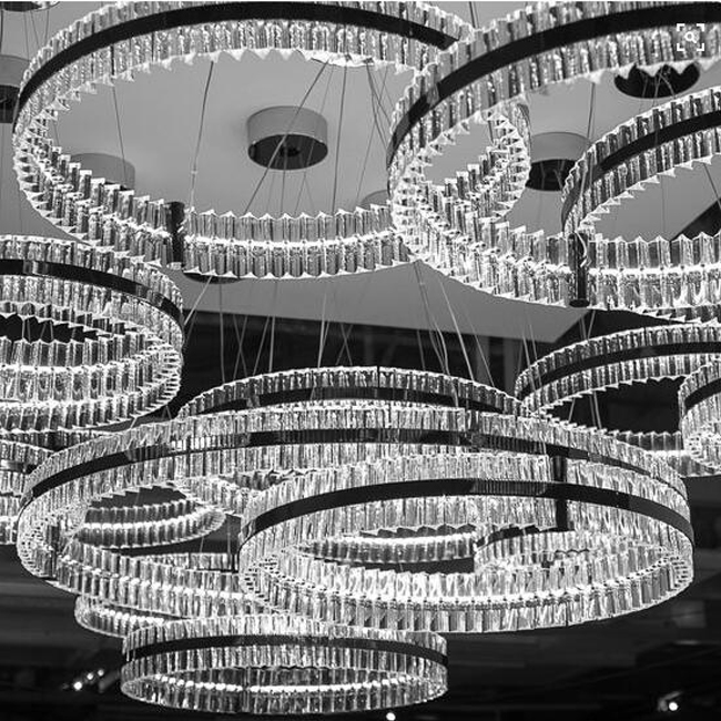 Modern Crystal Round Pendnat Lighting 13002