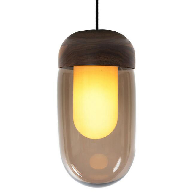Walnut Bell Pendant Lighting 14167