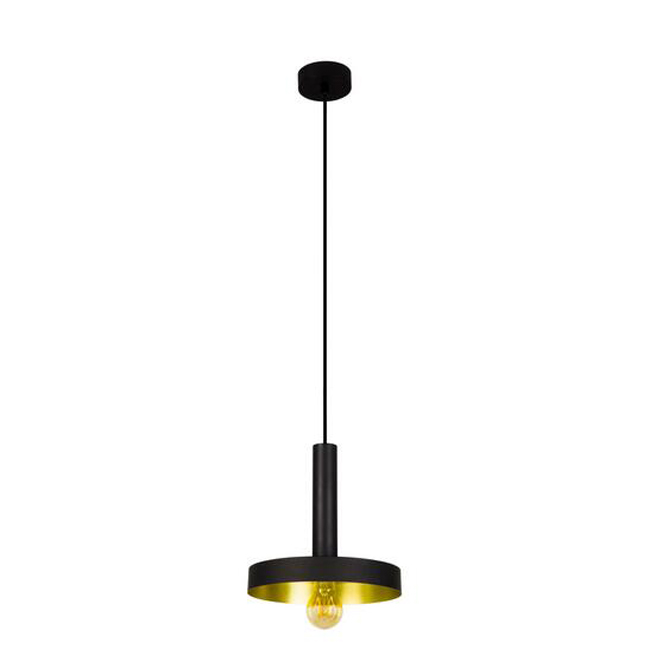 WHIZZ Black and satin gold pendant Lighting 14806