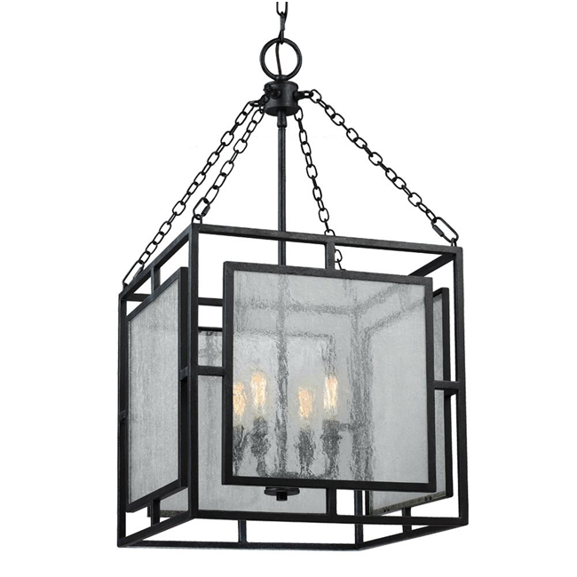 Prairielands Dark Weathered Zinc Pendant Lighting 15080