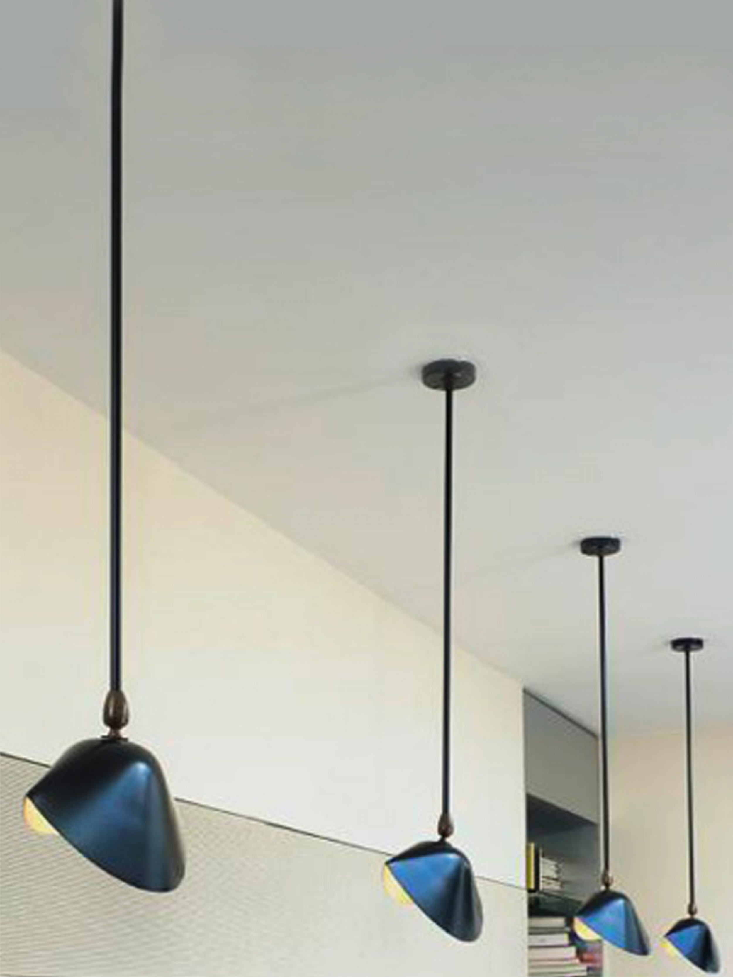 SERGE MOUILLE Ceiling lamp Bibliotheque  16976