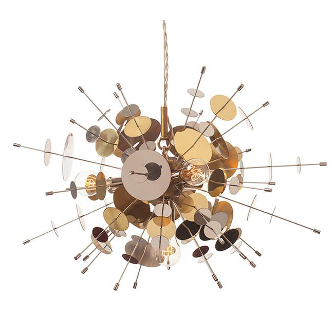 Confetti Pendant - Stainless Steel & Brass 17298