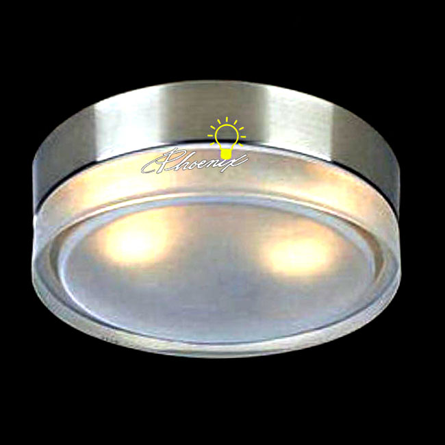 Depolished Clear and Brushed Nickel Recessed Lighting 8047