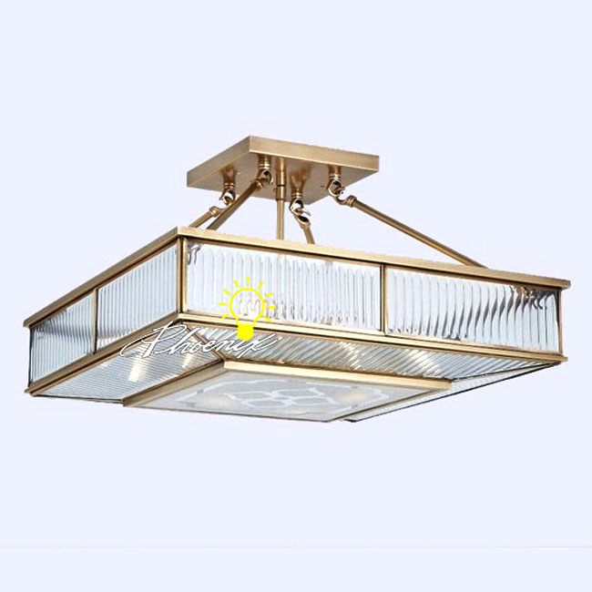 Pure Copper Square Crystal Recessed Lighting 8471