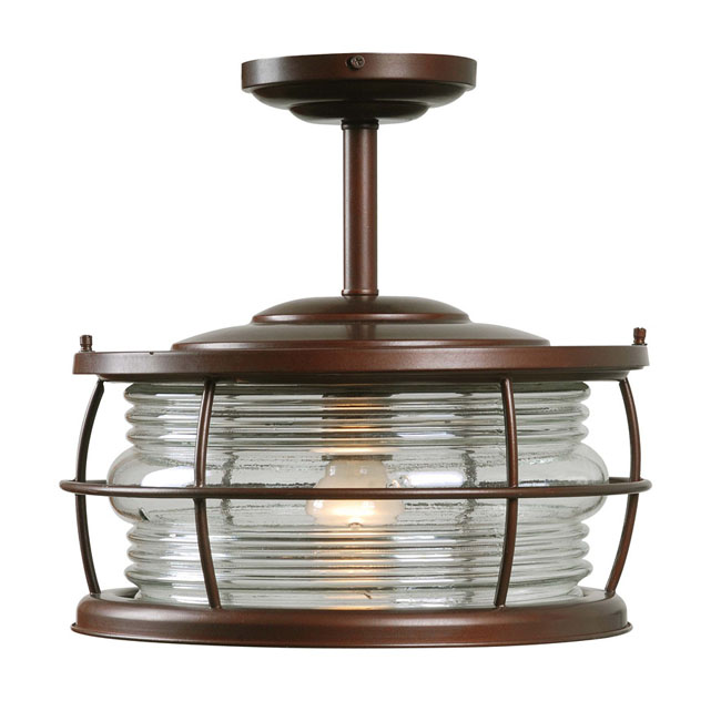 Antique Country Brown Glass Recessed Lighting 8638