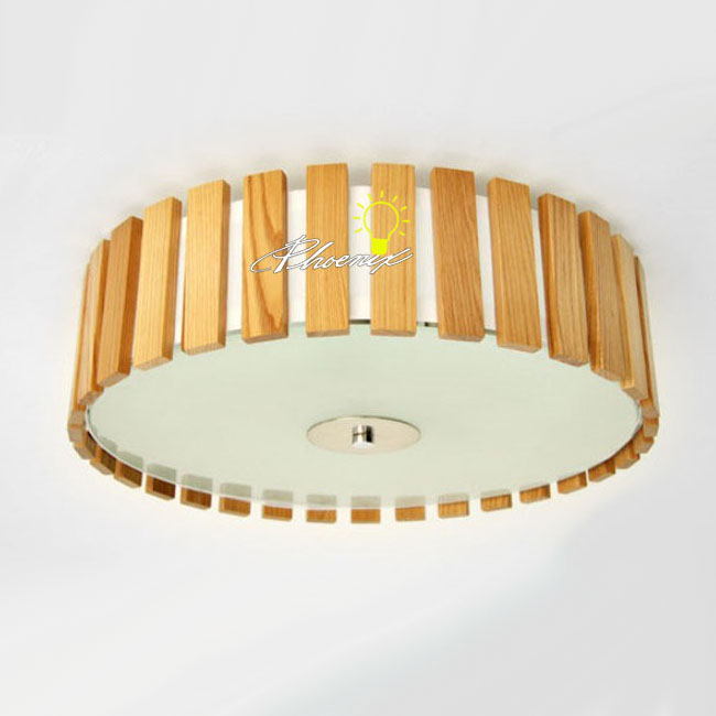 Modern Original Wood and Glass Recessed Lighting 8891