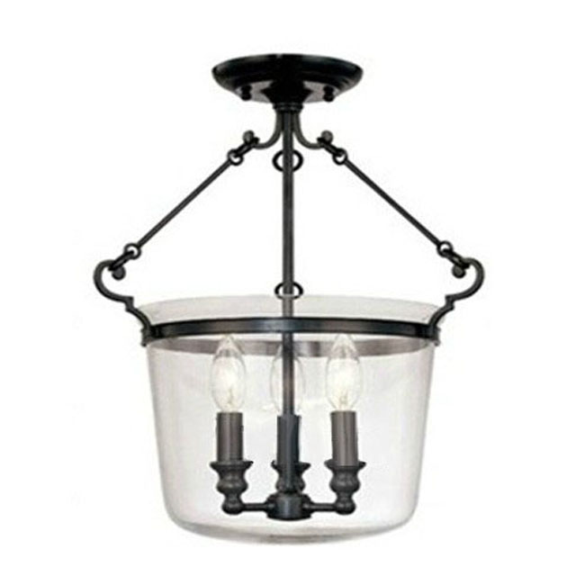 Antique Louis Glass And metal Recessed Lighting 9266