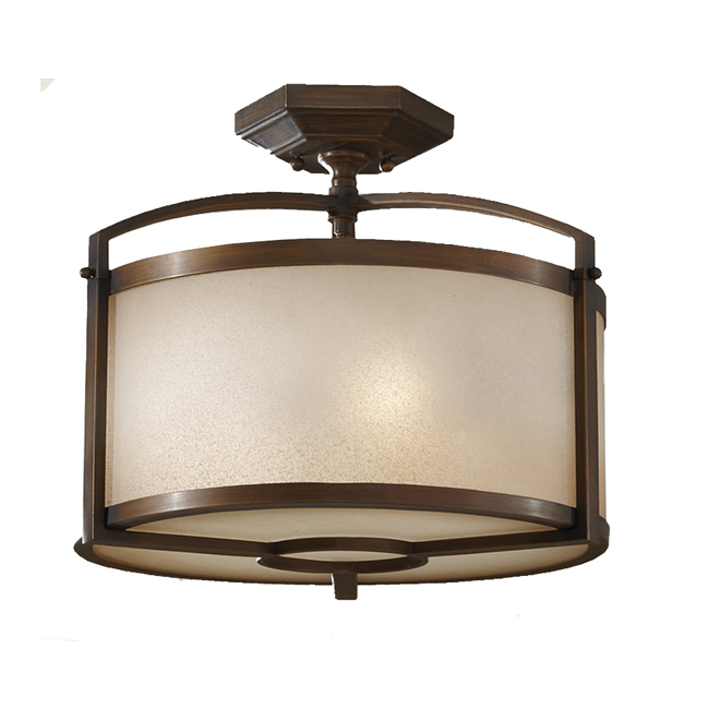 Antique Metal and Matte Glass Recessed Lighting 9725