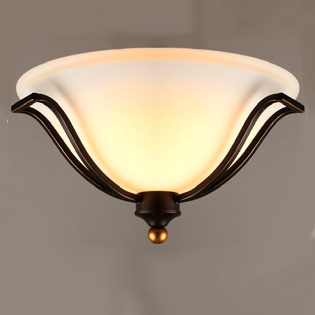 Antique Iron Art And Glass Recessed Lighting 9727