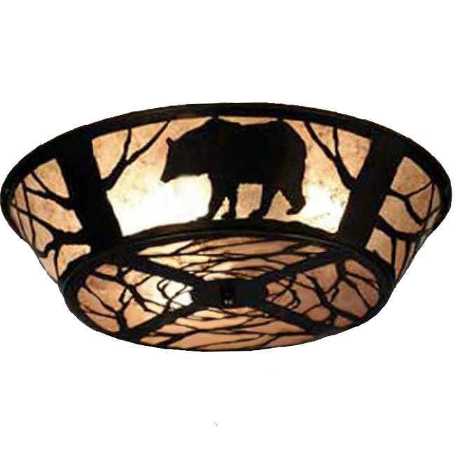 Lovely Bear in Forest at Night Recessed Lighting 10210