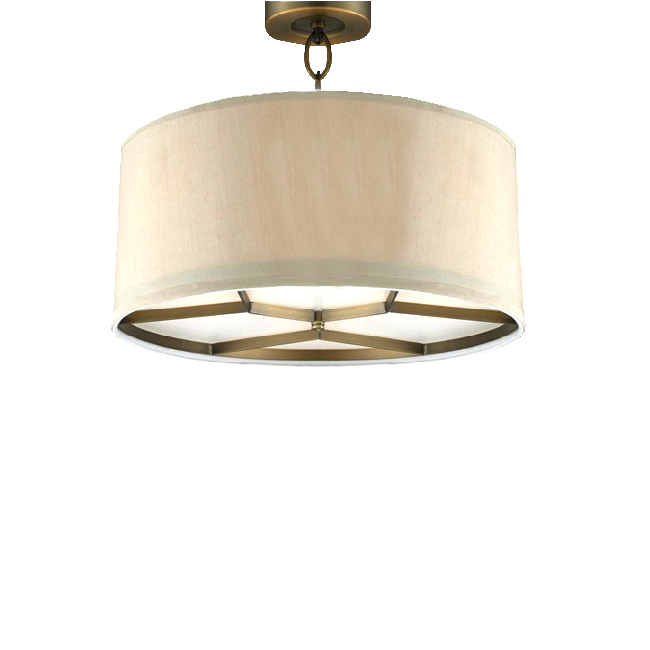 Country Copper and Flax Shade Recessed Lighting 10270