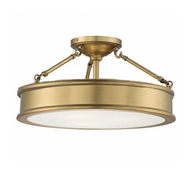 Traditional Metal and Acrylic Shade Recessed Lighting in Baking