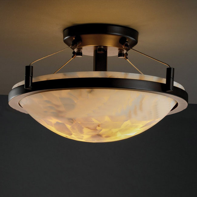 PHX Antique Marble And Iron Art Recessed Lighting 10383