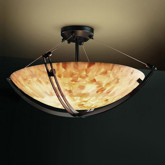 PHX Antique Marble And Iron Art Recessed Lighting 10383-2