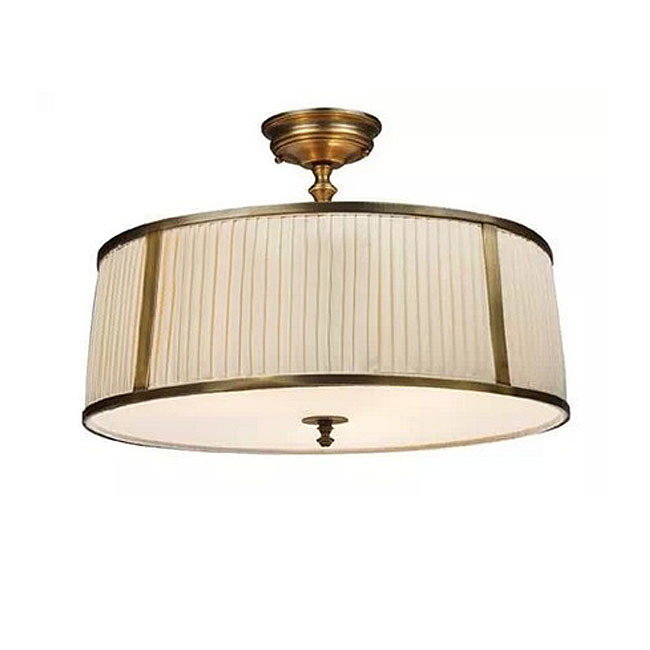 Antique Copper and Fabric Shade Recessed Lighting 10409