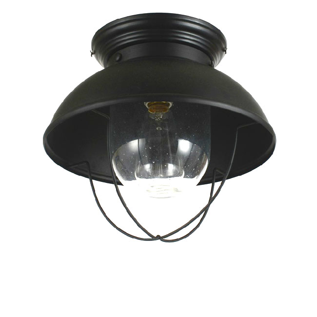 Antique Iron And Bubble Glass Recessed Lighting in Baking Finish