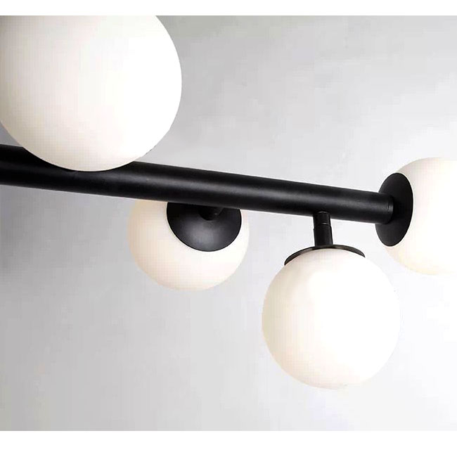 Modern North Multi White Glass Balls Recessed Lighting in Baking